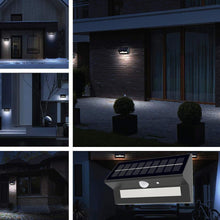 Load image into Gallery viewer, 6W, Smart Solar Outdoor LED Wall Lights with PIR Sensor - Based Motion Detectors (HY39WSRB)