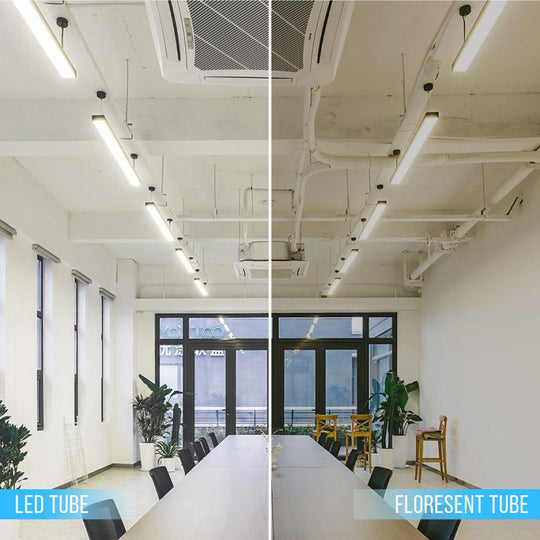 T8 4ft 22W LED Tube, 2-Row LED Tube, 5000K Clear Dual Ended Power