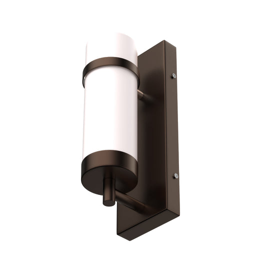 "Oil Rubbed Bronze Finish Wall Lamps with White Glass shade, Dimension: W4.5""*H13.5""*E4"""