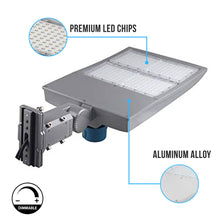 Load image into Gallery viewer, 300W LED Pole Light With Photocell ; 5700K ; Universal Mount ; Silver ; AC100-277V