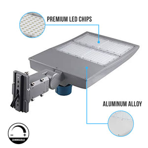 300W LED Pole Light With Photocell ; 5700K ; Universal Mount ; Silver ; AC100-277V