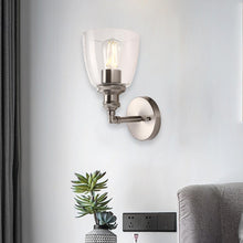 Load image into Gallery viewer, Bell Shape Wall Sconce Lighting Fixture, Brushed Nickel Finish, E26 Base, UL Listed for Dry Location, 3 Years Warranty