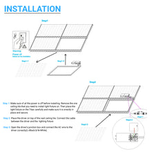 Load image into Gallery viewer, 2x2ft LED T-Bar Panel Light - 40W 5000K - CRI 80 - ETL Listed