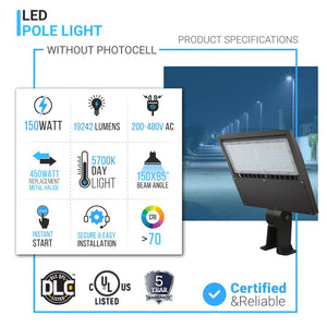 150W LED Pole Light Products Specifications
