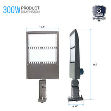 Load image into Gallery viewer, 300W LED Pole Light With Photocell ; 5700K ; Universal Mount ; Gray ; AC100-277V