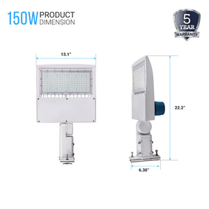 150W LED Pole Light with Photocell products Dimension