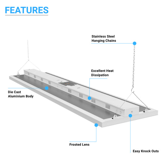 4FT LED Linear High Bay 225W, 30150 Lumens and Dimmable