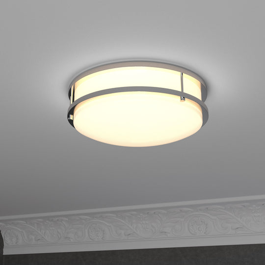 "12"" LED Double Ring Flush Mount ; 1050 Lumens ; Power: 15W ; 3 Color switchable (3000K/4000K/5000K)"