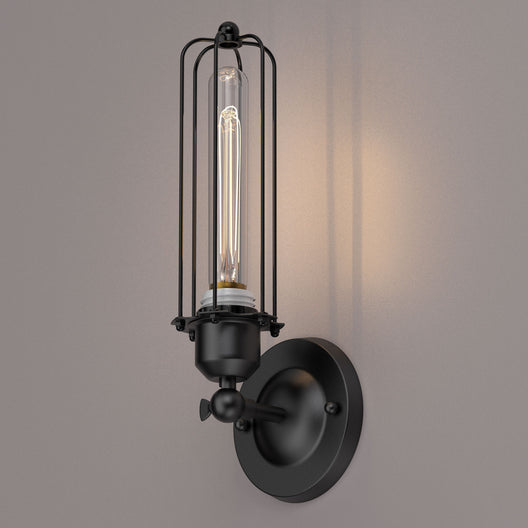 Lantern Shape Vanity Light Fixture, Matte Black Finish, 1-Light/2-Light, E26 Base, UL Listed, For Dry Locations, Bathroom Vanity Lighting