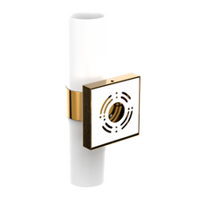 "Load image into Gallery viewer, 2-Lights, Wall Sconce with White Glass Shade, Brushed Brass Finish, Dimension: L13.5""xW4.45""xE5"""
