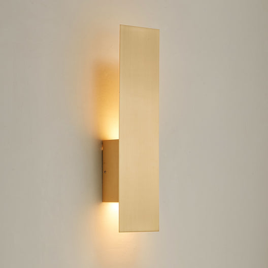 Decorative Wall Sconce with Frosted Glass Diffuser, Dimension W 5 x H 20 x E 3.5 Inch