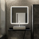 Load image into Gallery viewer, LED Lighted Shelf Mirror, Touch Switch, Defogger and CCT Remembrance, Raven Style