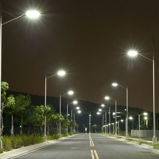 LED Pole Light 150W ; High Voltage ; 5700K ; Universal Mount ; 200-480V With Photocell Bronze