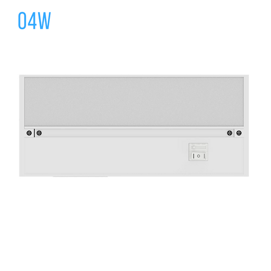 LED Under Cabinet Light Dimmable CRI90, WHITE, Direct Plug-in, Color Changeable (3000K/4000K/5000K)
