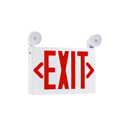 Emergency Exit Sign with Lights, 3.5W , Red , UL Listed