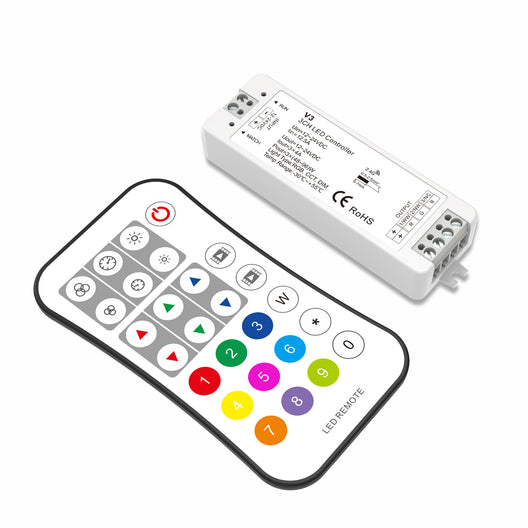 RGB Remote LED Controller Set  - Remote with 2 Scenes Dimming