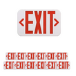 Load image into Gallery viewer, Emergency Light Exit Sign - 4W - Red Large Size - UL Listed