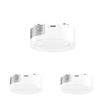 Load image into Gallery viewer, LED Puck Light 3-Piece Kit Direct Plug-In, Dimmable, 3x3.5 Watts, 420 Lumens, White Trim