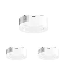 LED Puck Light 3-Piece Kit Hardwired/Direct Plug-In, Dimmable, 3x3.5 Watts, 420 Lumens, White Trim