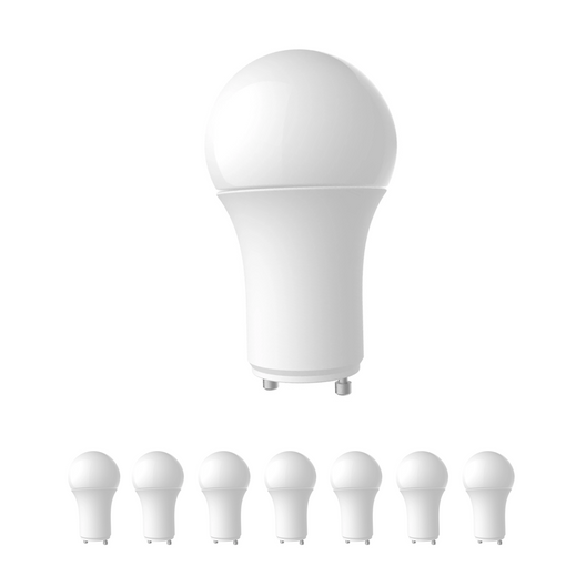 A19 LED Light Bulbs - 9.5 Watt - 800lm Dimmable - 5000K - Natural White GU24