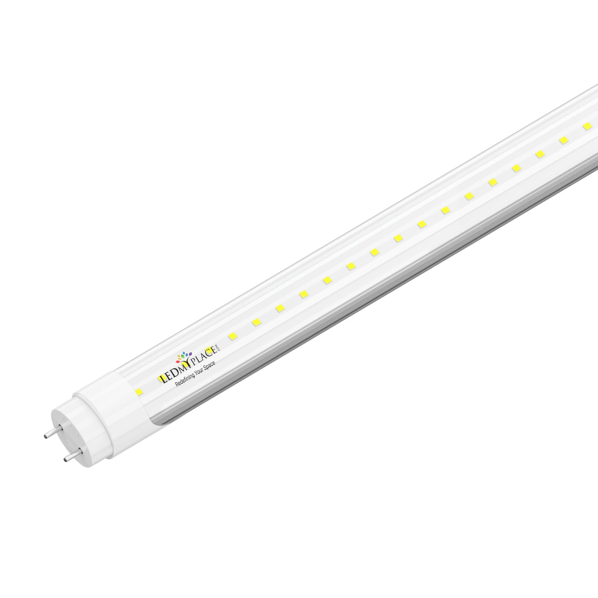 T8 4 foot LED Light Fixture 22W 3000 Lumens 5000K Clear Single Ended Power, 4ft LED Light Bulbs
