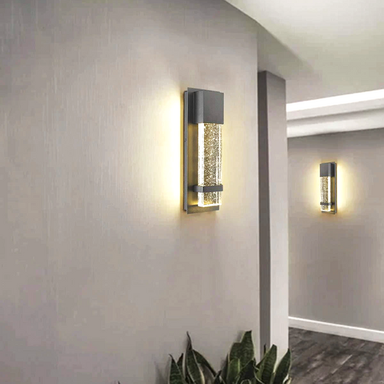 Bubble Glass LED Indoor Outdoor Wall Sconce Light, 12W, Dimmable, 4000K, 600lm, ETL Listed(Wet Location), For Living Room, Bedroom, Foyer, Corridor, Balcony, Patio and Porch