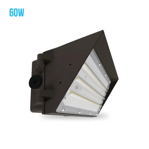 LED Semi-Cutoff Wall Pack Light, 5700K, UL DLC IP65 Waterproof