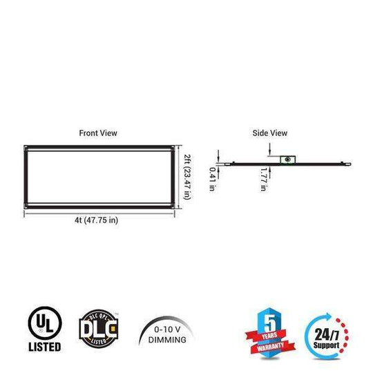 Led Panel 2X4 70W 5000K Dimmable 1pc - LEDMyplace