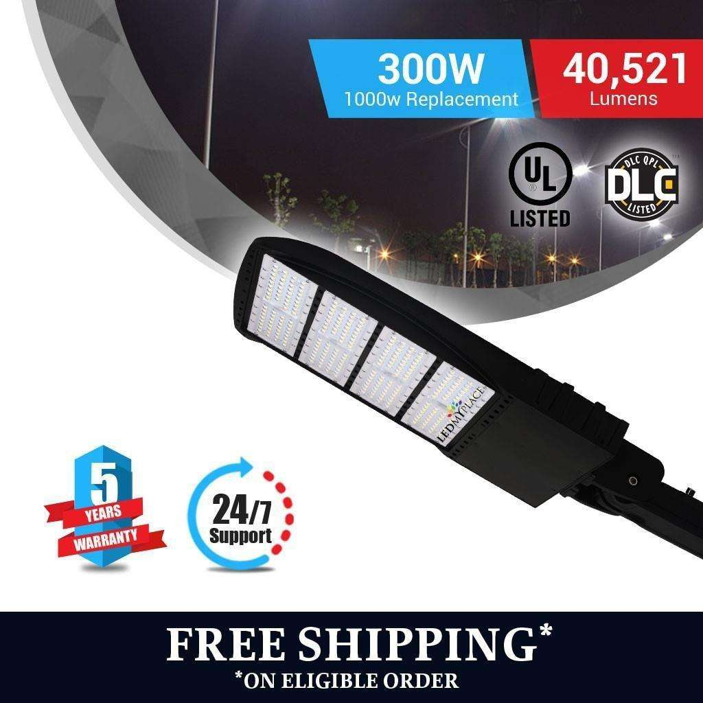 Led Pole Light 300 Watt Black With Photocell 5700k Am Ledmyplace Photocells For Lights Load Image Into Gallery Viewer