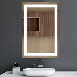 LED Bathroom Lighted Mirror 24
