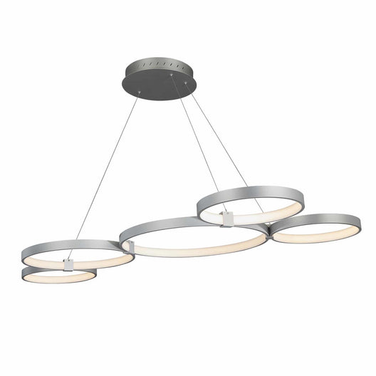 Modern Circular Chandelier, 5-Light, 92W, 3000K (Warm White), 3677 Lumens, Wheel Chandelier, Dimension: 50.1''x31.6''x110''