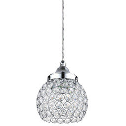 LFX/PD/CH/9W/D/30K LED 9 Watt Decorative Crystal Pendant Mount Light, Warm White, 450 Lumens, 3000K