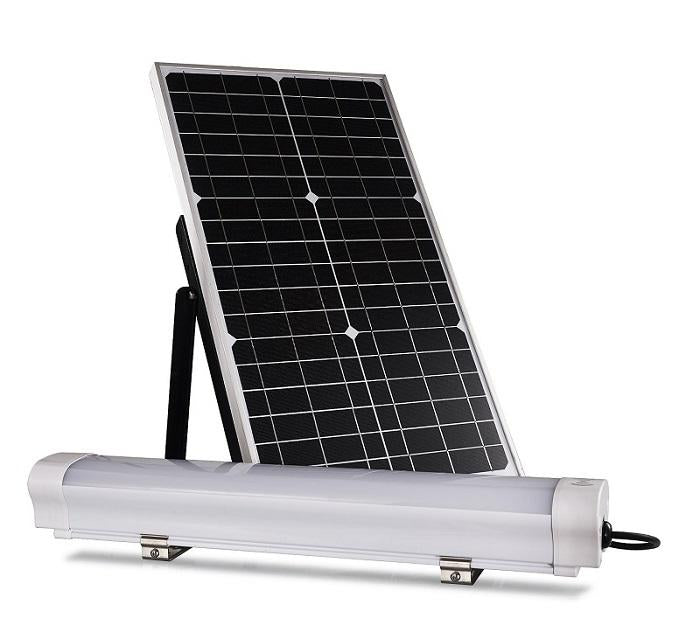Led Solar Batten Light Set 12w With 30w Solar Panel 6000k Ledmyplace