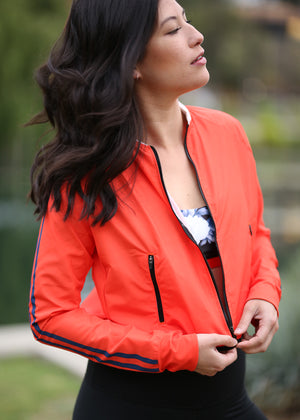Crimson Crop Jacket