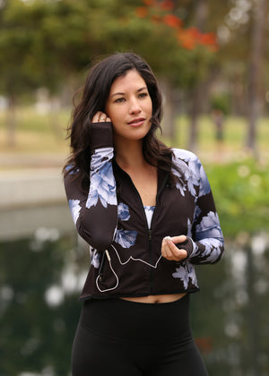 Midnight Floral Mesh Jacket
