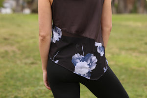 Midnight Floral Rise Tank