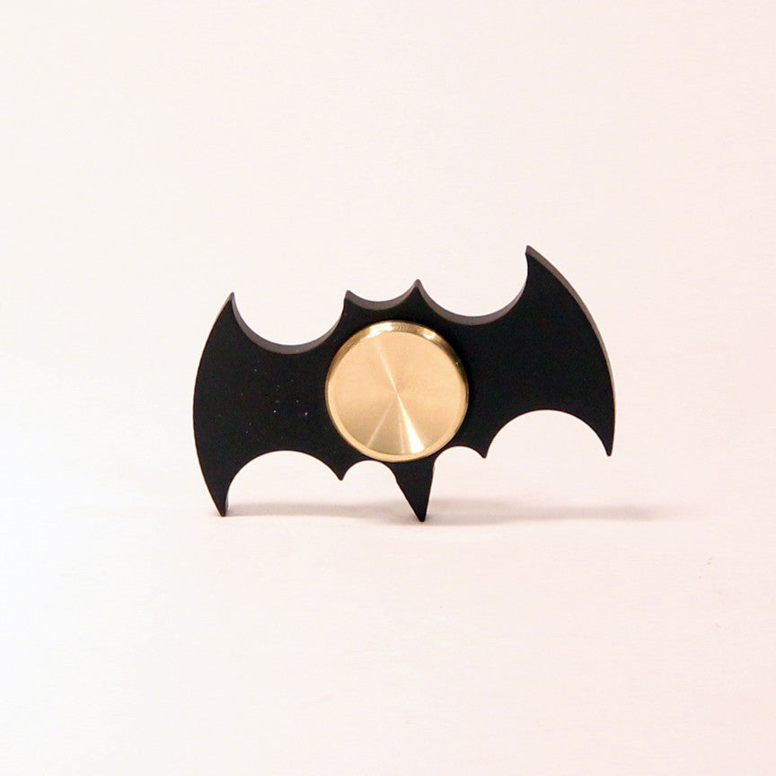 The Bat Fidget Hand Spinner- Steel and Aluminum with Hybrid Bearing- Batman Black
