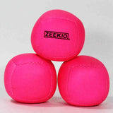Zeekio Lunar Juggling Ball Set - (3) Professional UV Reactive 6 Panel Balls - 110g