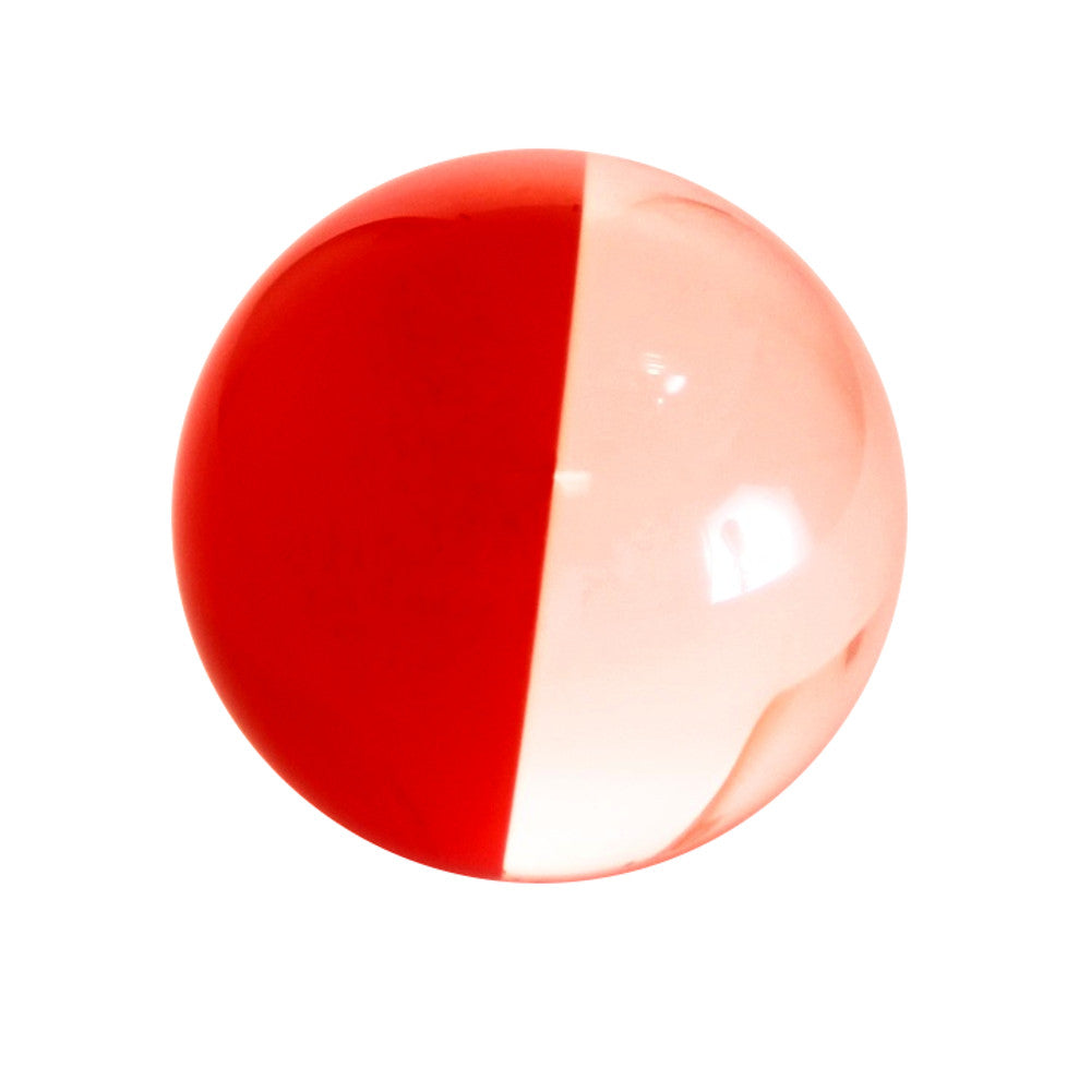 Zeekio Acrylic Contact Ball - Two Tone - 100 mm - Clear/Red