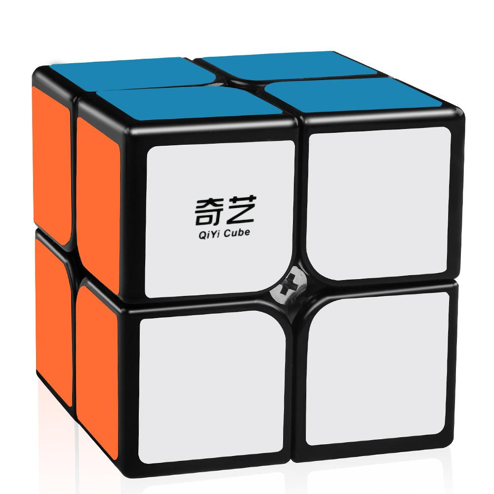 QIDI 2x2 Cube - QiYi Puzzle Cube with Stickers - Speedy