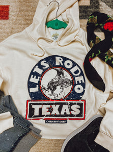 LETS RODEO CROPPED HOODIE