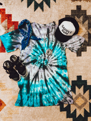 TYE DIE T SHIRT DRESS