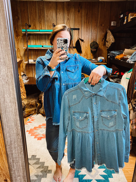 THE DARYL DENIM TOP