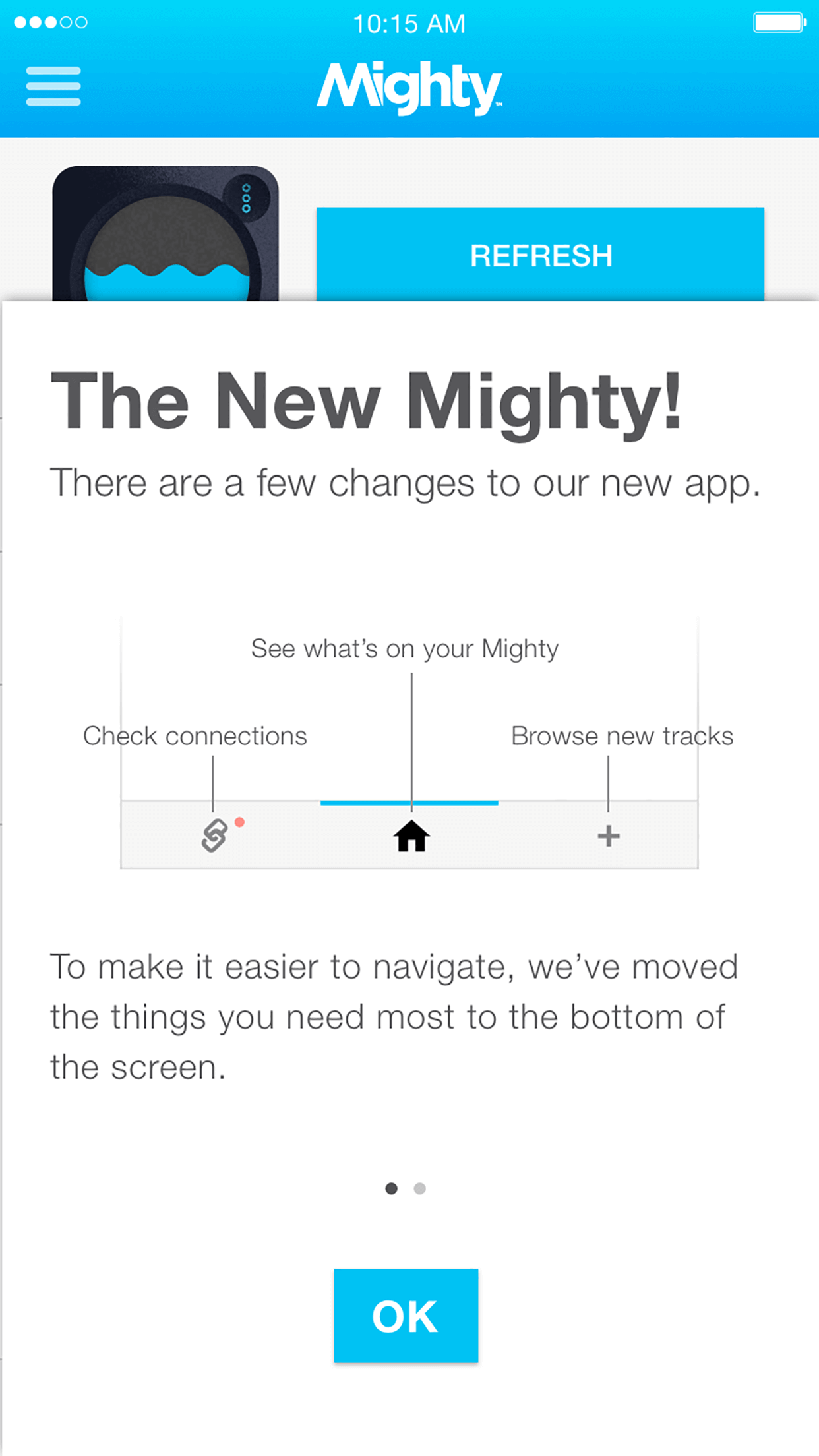 Mighty supports easy access to Spotify playalists such as Discover Weekly, Release Radar, Your Time Capsule, and more!