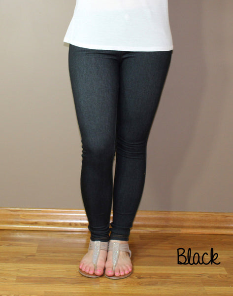Stretchy Denim Jeggings - Forever Yours Boutique