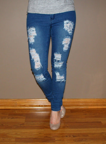 Distressed Stretchy Denim - Forever Yours Boutique