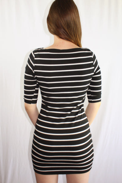Striped Bodycon Dress - Forever Yours Boutique