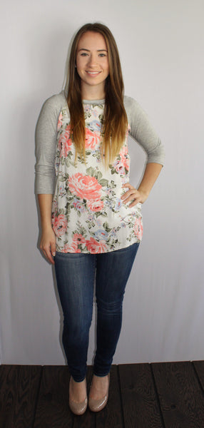 Madison Floral Tunic - Forever Yours Boutique