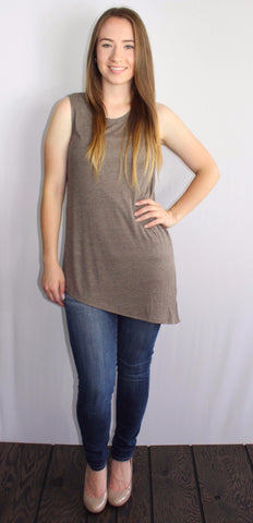 Asymmetrical Knit Tank - Forever Yours Boutique