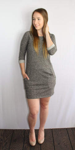 Peppered Knit Heather Dress - Forever Yours Boutique
